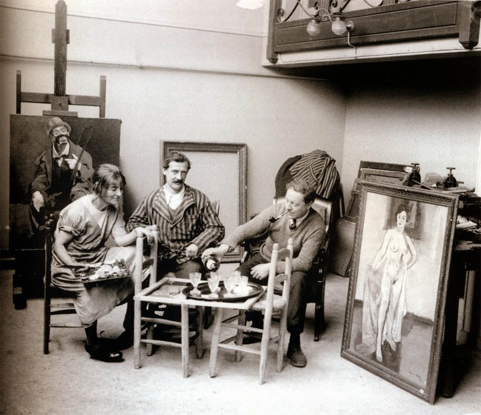 Maurice Utrillo & Suzanne Valadon in the studio