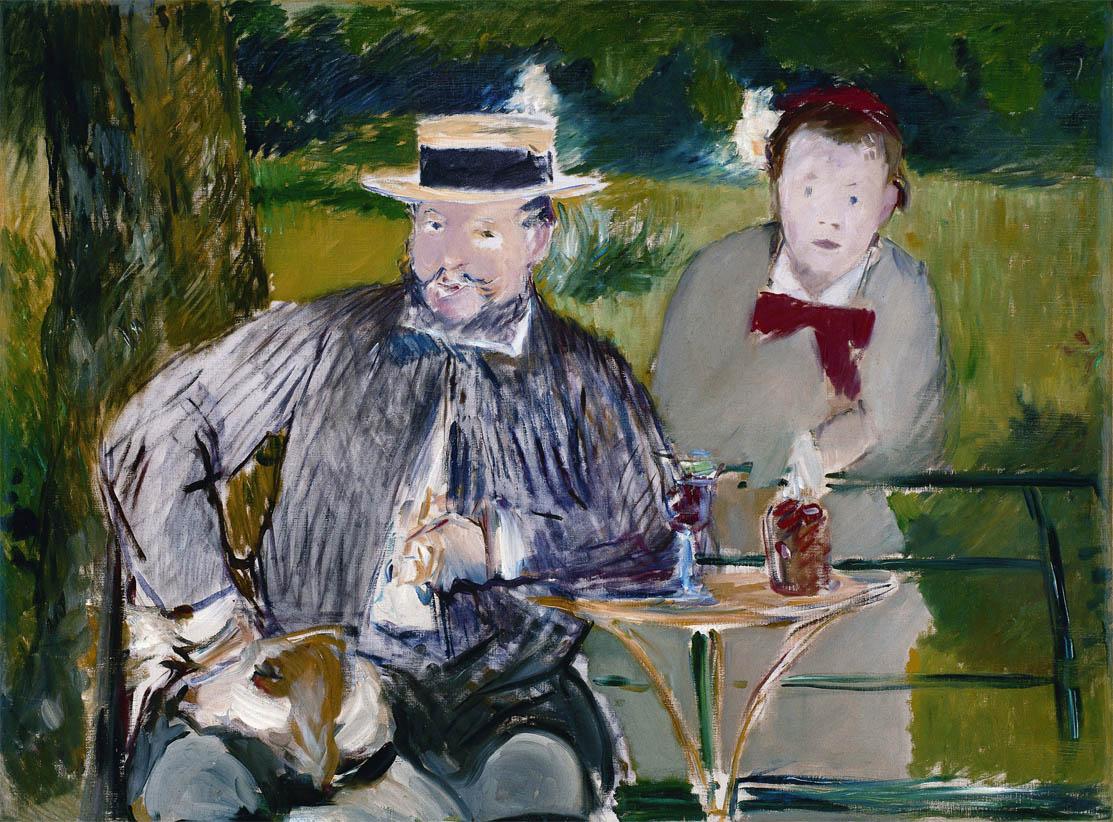 Portrait d'Ernest Hoschede et sa fille Marthe (c 1876)