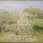 Printemps, arbres fruitiers en fleurs (1873)