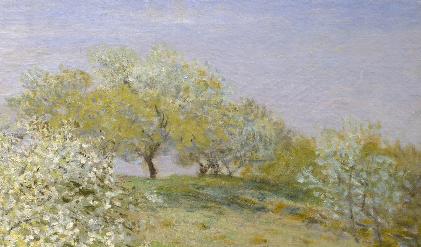 Printemps arbres fruitiers en fleurs 1873 the ark of for Arbre fruitier