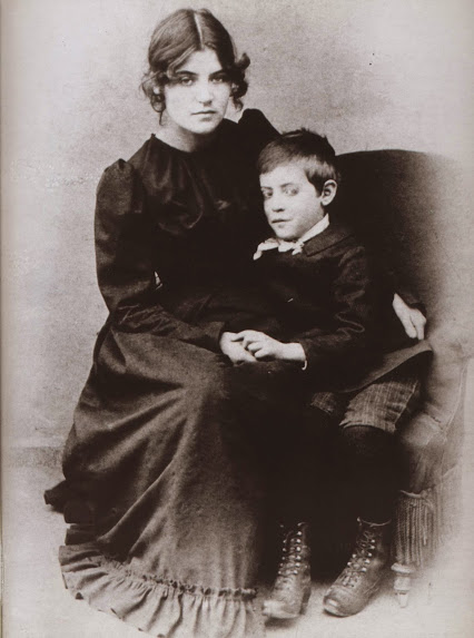 Suzanne Valadon and her son Maurice Utrillo c.1890