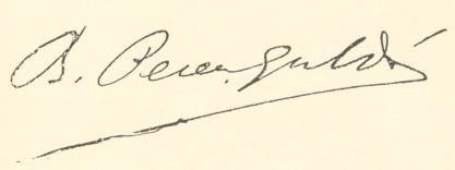 Benito Pérez Galdós-signature