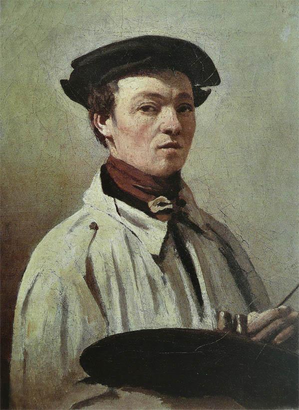 Corot, la palette à la main (c1835)