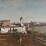 La Trinité-des-Monts, vue prise de la Villa Médicis de Corot (1825–1828)