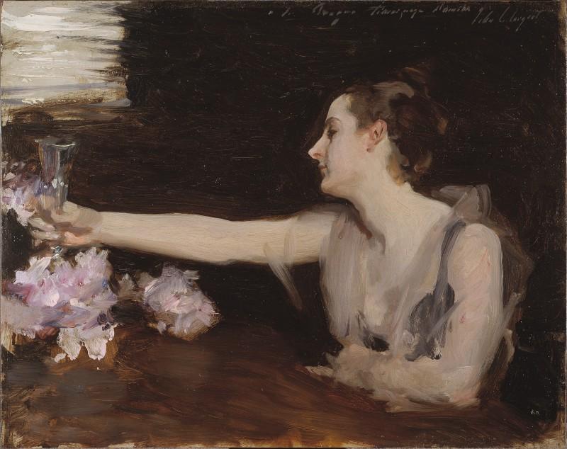 Madame Gautreau Drinking a Toast (1882-1883)