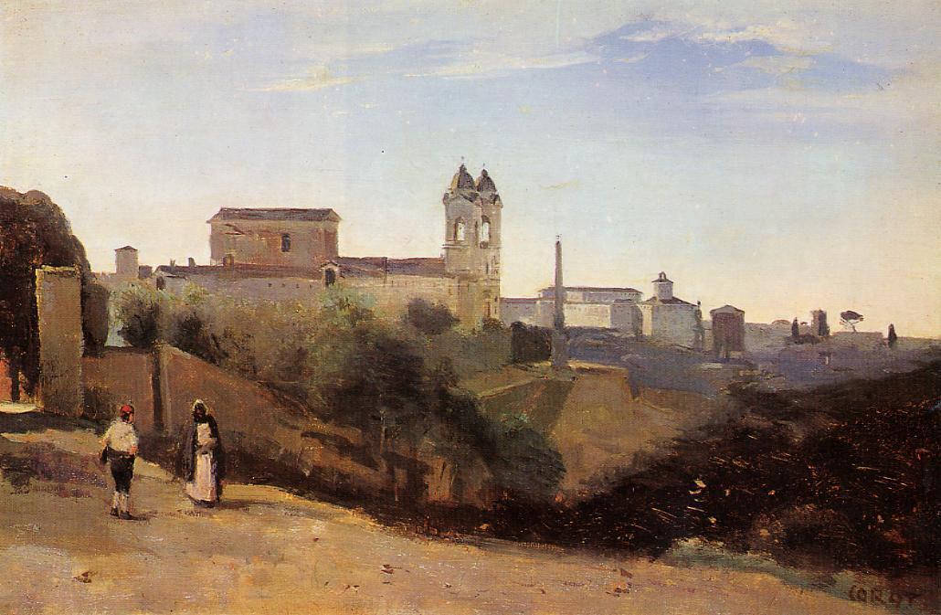 Rome, Monte Pincio, la Trinité-des-Monts (1826-1828)