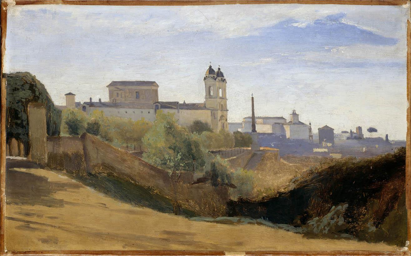 Rome, le Monte Pincio et la Trinité-des-Monts (1826-1828)