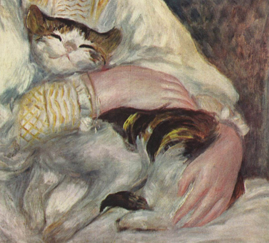 Julie Ma L enfant au chat 1887