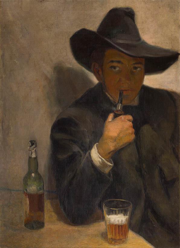 Autorretrato con chambergo (1907)