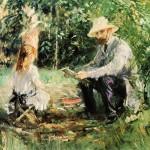 Eugène Manet et sa fille dans le jardin de Bougival (1883)
