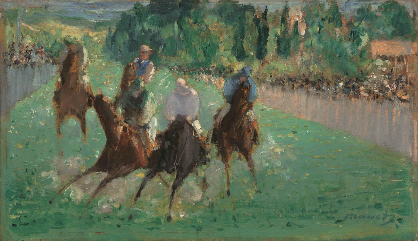 Aux courses (c 1875)