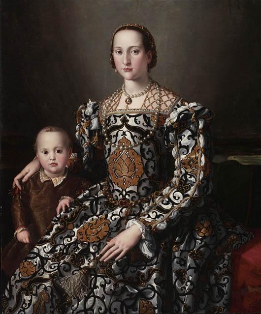 Eleonora da Toledo col figlio (1545-1550)