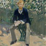 George Moore dans le jardin de l'artiste (c 1879)
