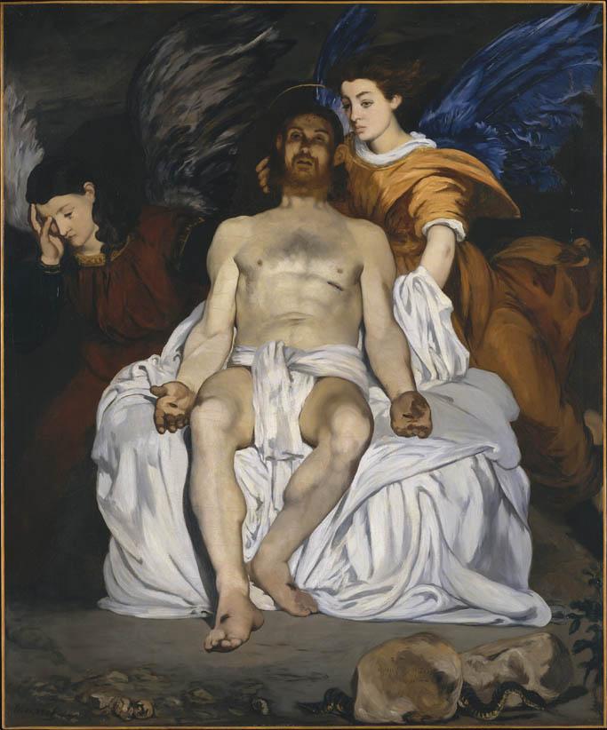 Le Christ mort et les anges (1864)