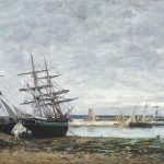 Camaret, marée basse dans la rade (1871-1873)