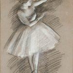 Danseuse en blanc (c 1877)