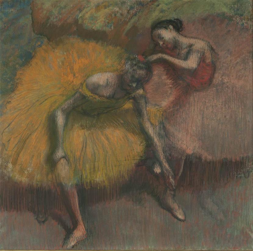 Deux danseuses jaunes et roses (1898)
