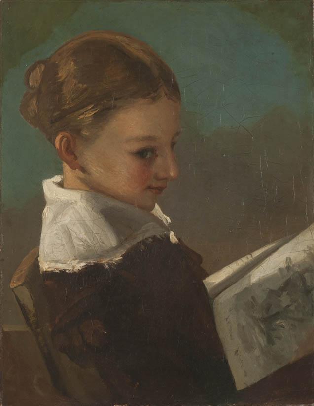 Juliette Courbet à l'âge de dix ans (c 1841)