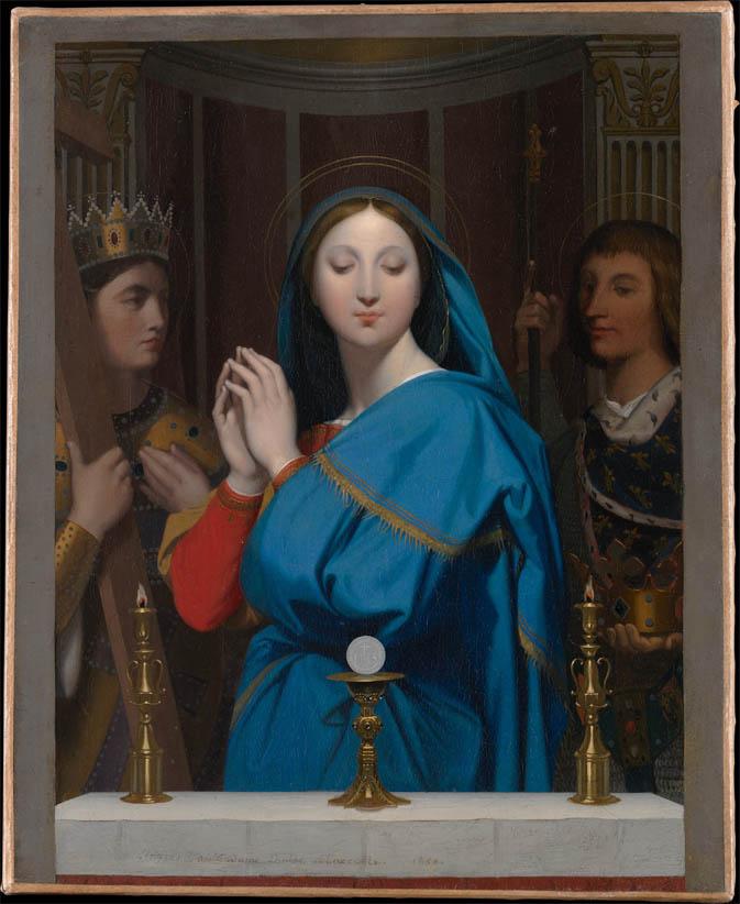La Vierge adorant l'hostie (1852)