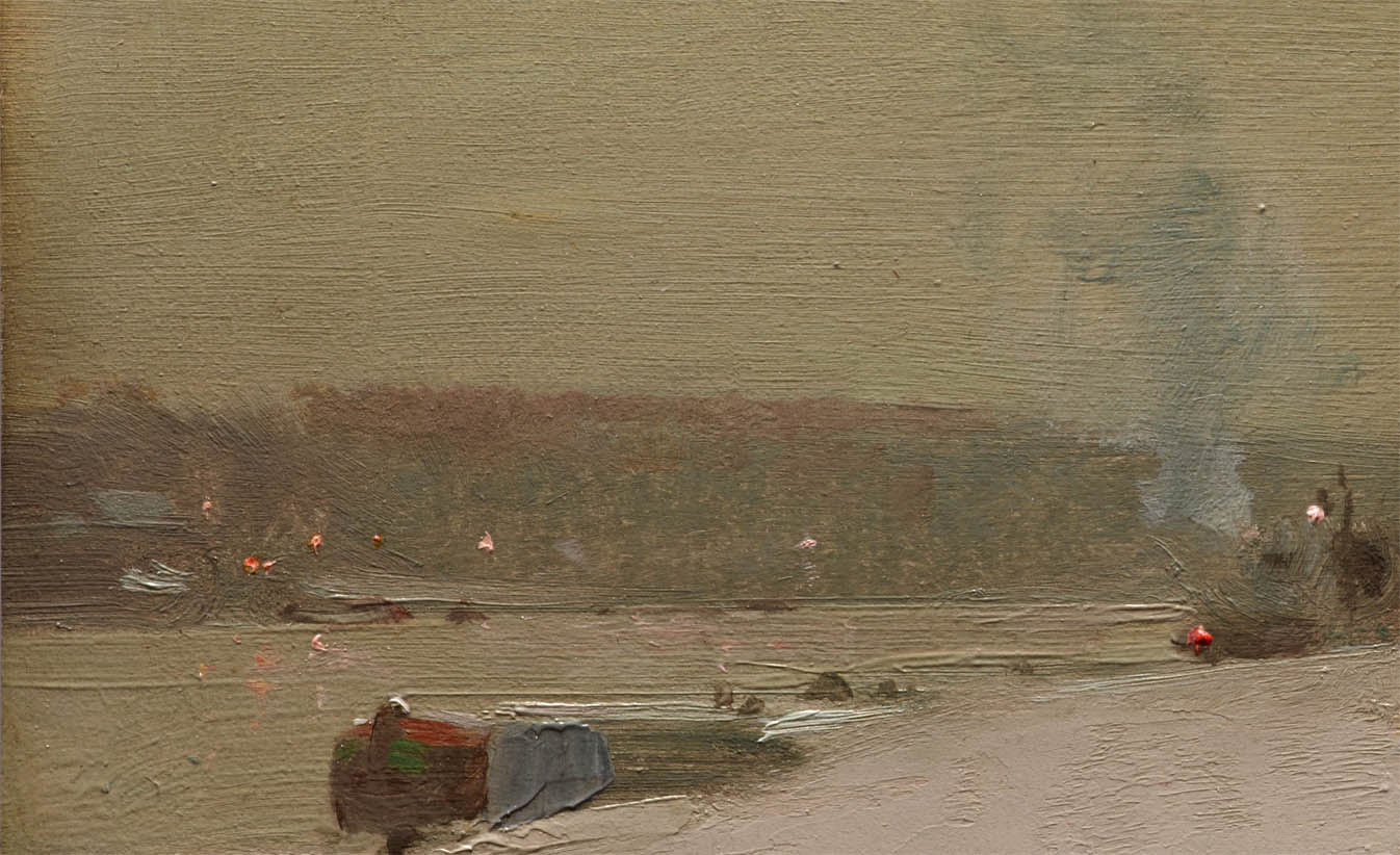 Along the Seine, Winter (1887-d-1)