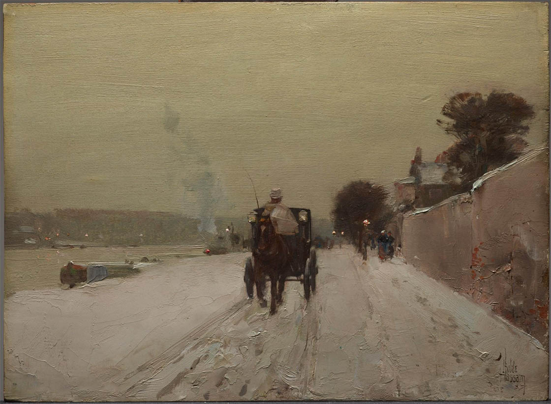 Along the Seine, Winter (1887)