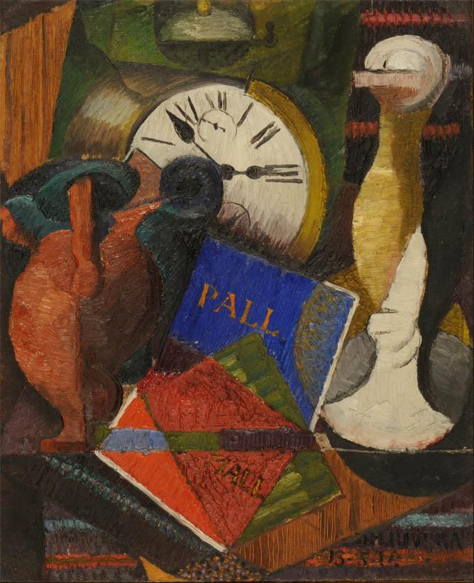 Composición con reloj (1914)