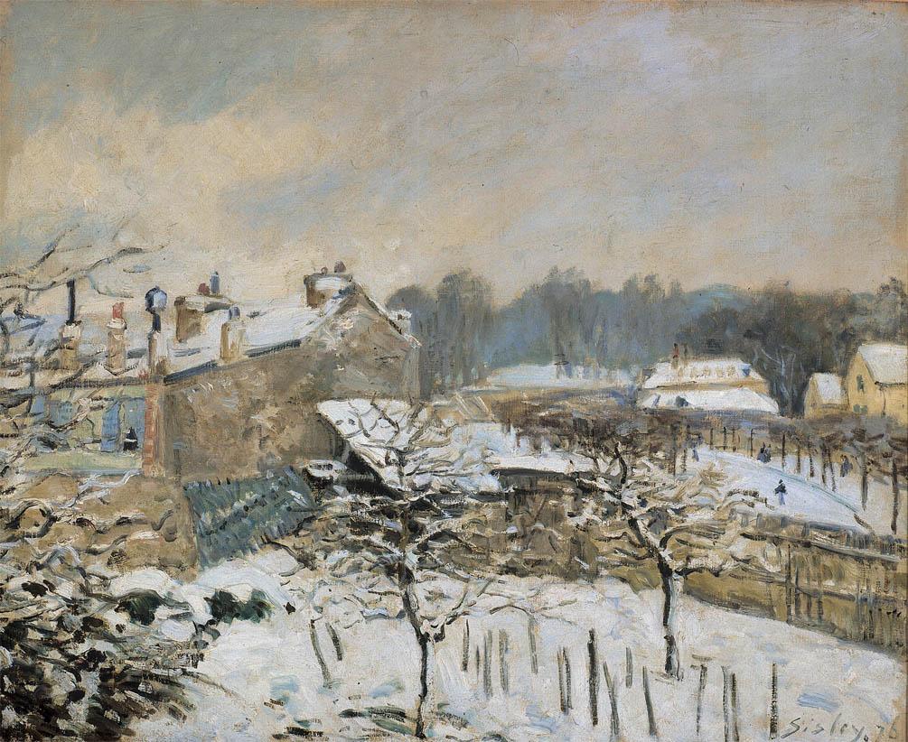 Effet de neige à Louveciennes (c 1877)