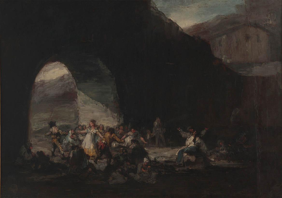 Fiesta popular bajo un puente (1808-1812)