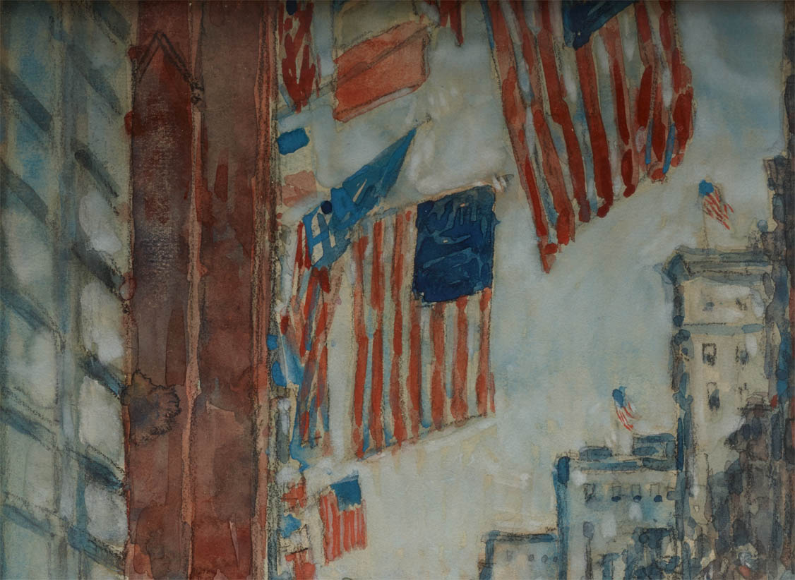 Flags, Fifth Avenue (1918-d-1)