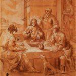 Gesù al tavolo con due discepoli