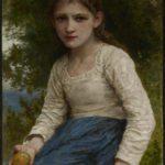 Jeune fille assise tenant une pomme (1905)