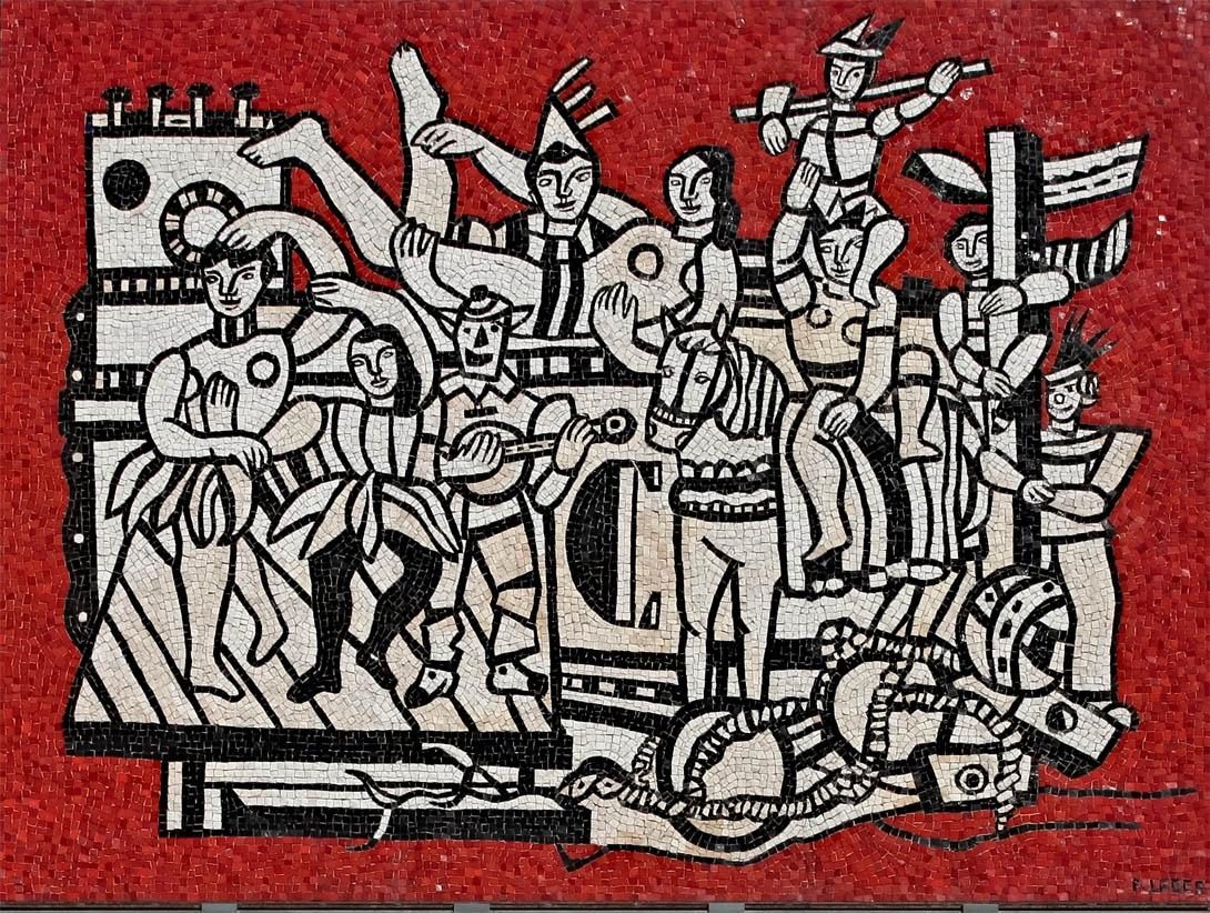 La Grande Parade sur fond rouge (1953)