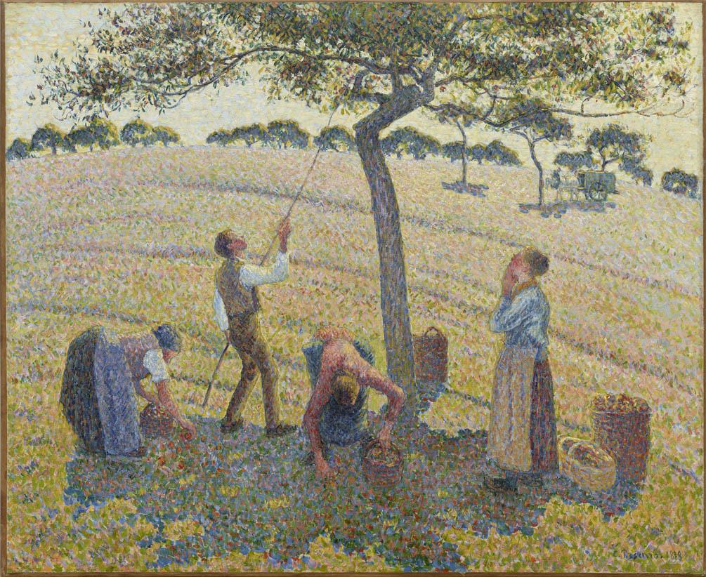 La récolte des pommes à Éragny (1888)
