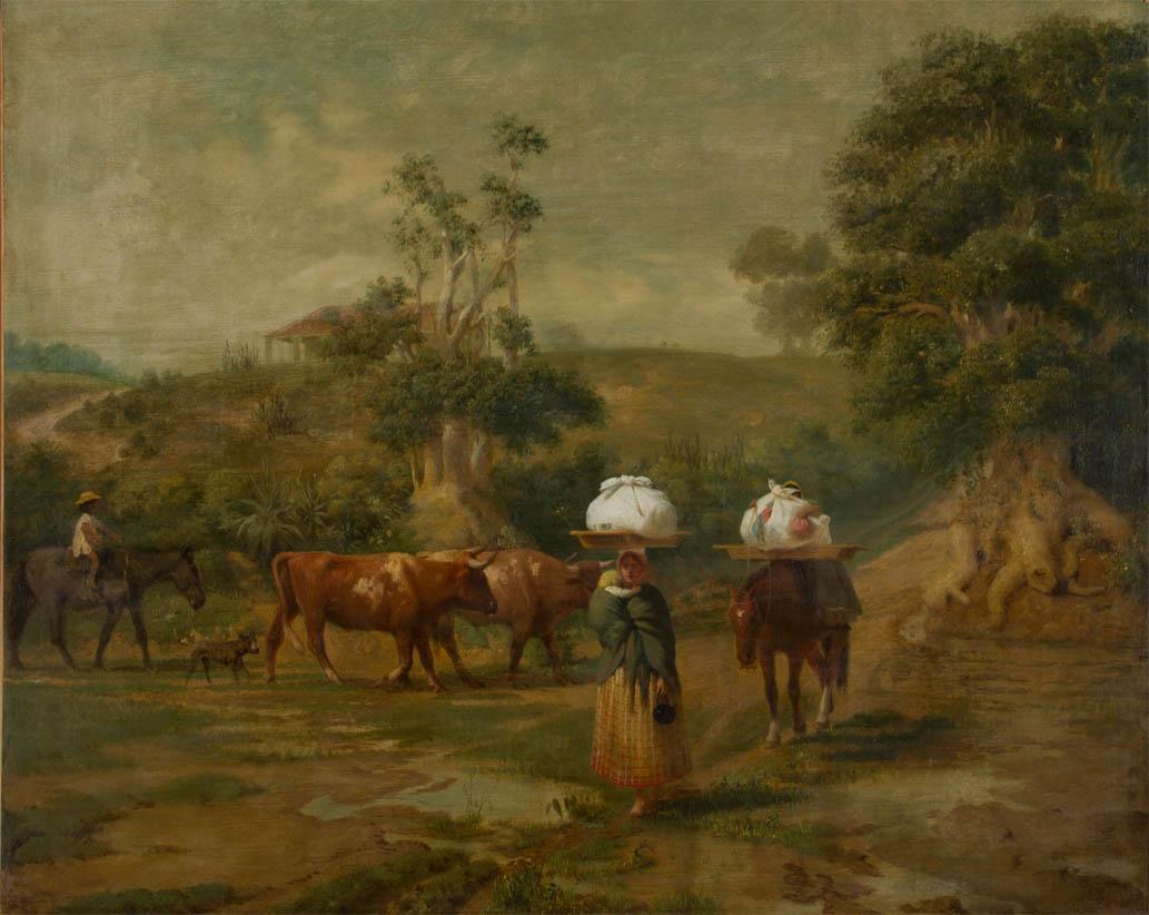 Lavanderas en el bajo de Belgrano (1865)