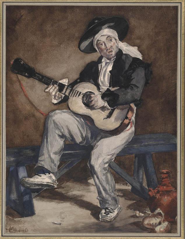 Le chanteur espagnol (c 1861)