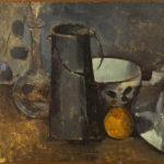 Nature morte avec carafe, bidon de lait, bol et orange (1879-1880)