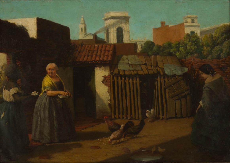 Patio porteño en 1850 (c 1860)