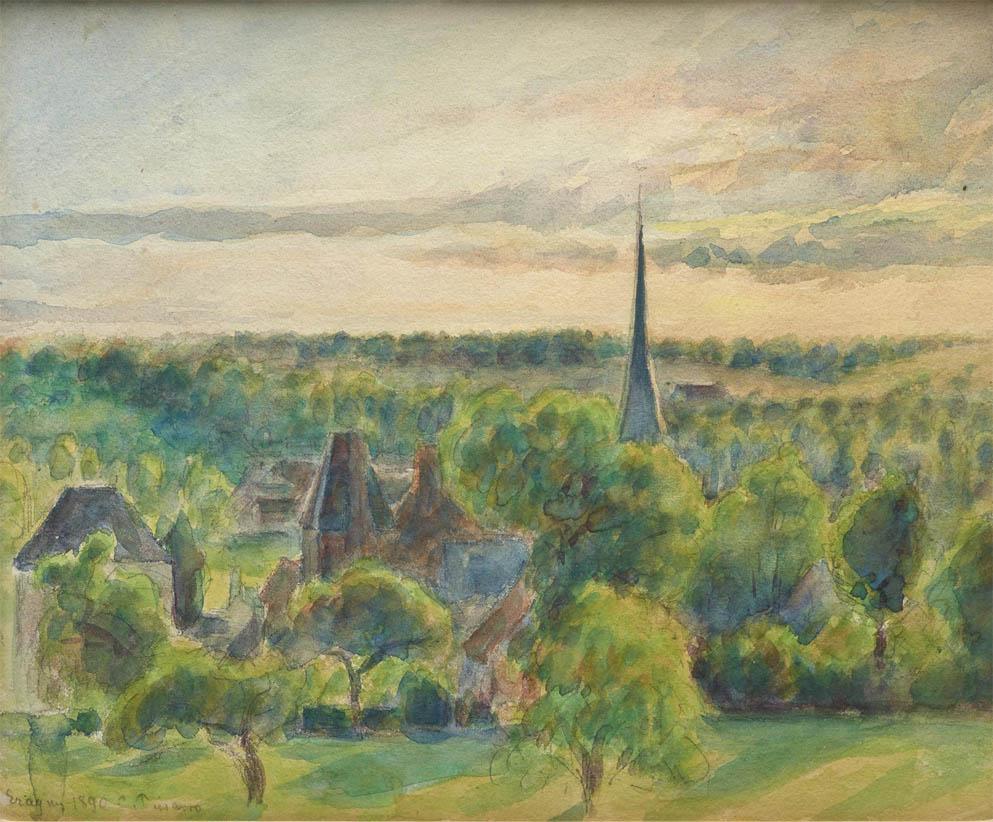 Paysage à Eragny (1890)