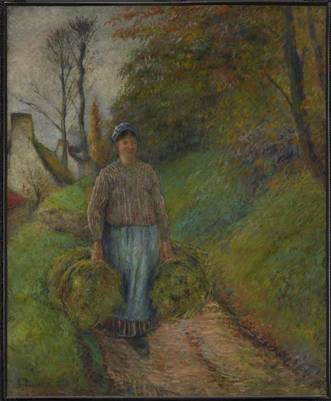 Paysanne portant deux bottes de foin (1883)