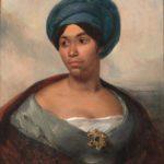 Portrait d'une femme coiffée d'un turban bleu (c 1827)