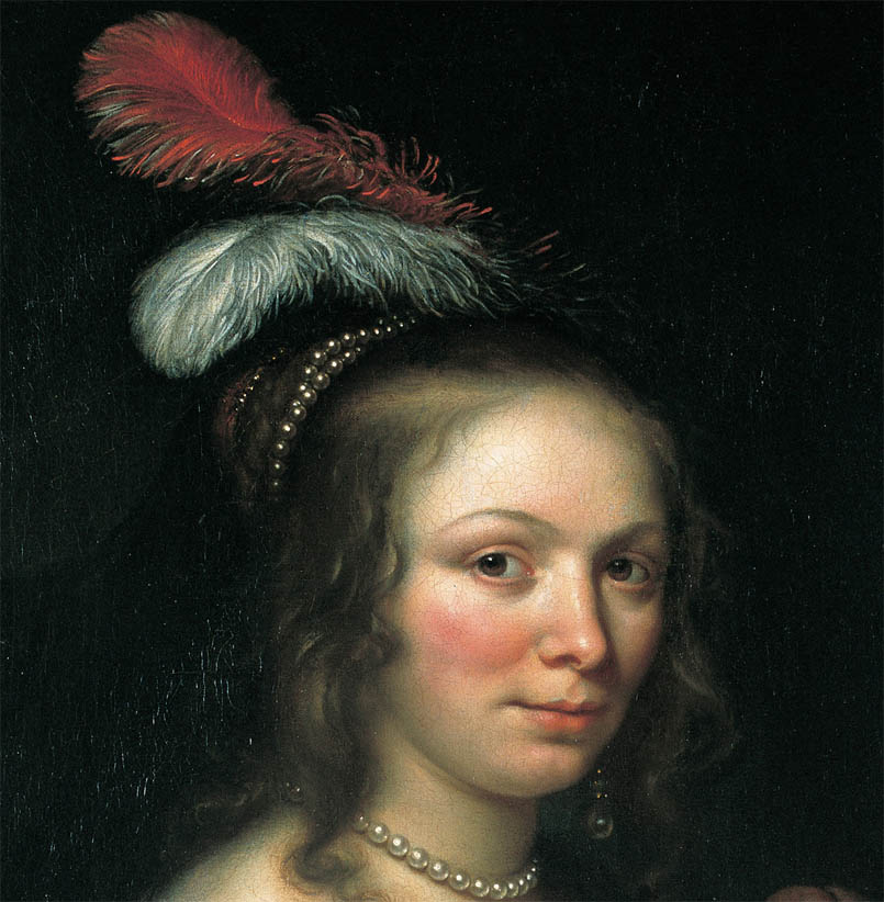 Portrait of a Young Woman with a Feathered Hat (d-1)