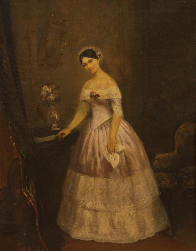 Retrato de Manuelita Rosas, estudio (1851)