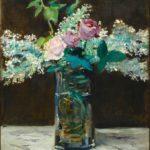 Vase de lilas blancs et roses (1883)