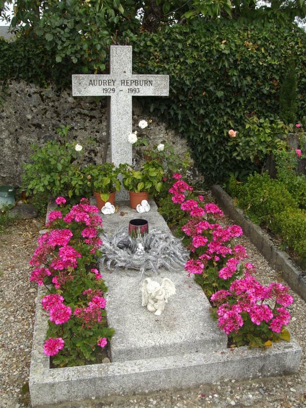 Audrey Hepburn's grave