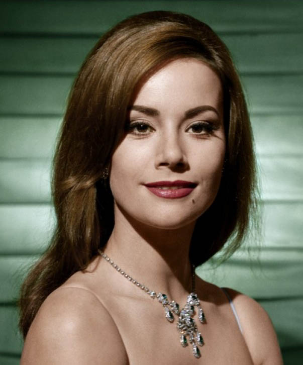 Claudine Auger, who played the Bond girl Domino in